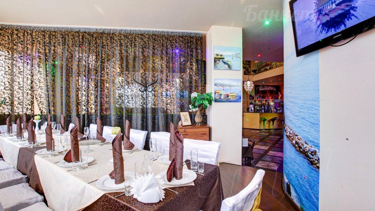 Балкон италия-аквариум - кафе-бар акварель банкетный зал до .