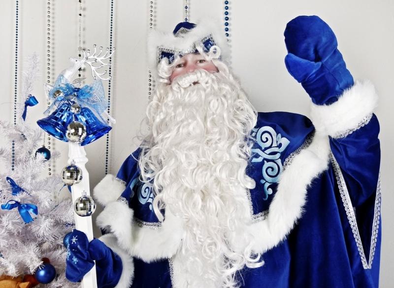 картинка деда мороза в синем костюме большому количеству стилей