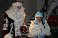 Дед Мороз и Снегурочка на тройке лошадей
